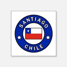 "Unique Flags chilean Square Sticker 3"" x 3"""