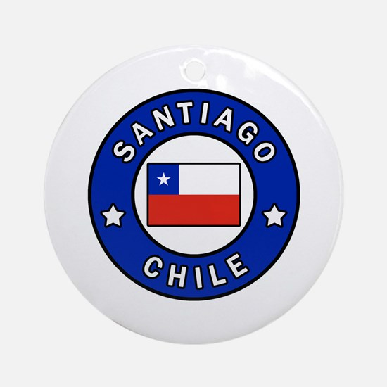 Cute Chile Round Ornament