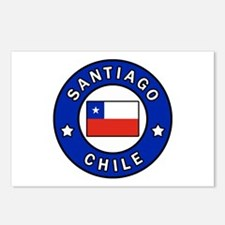 Santiago Chile Postcards (Package of 8)