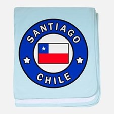 Santiago Chile baby blanket