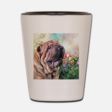 Shar Pei Painting Shot Glass