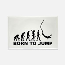 Evolution bungee jumping Rectangle Magnet