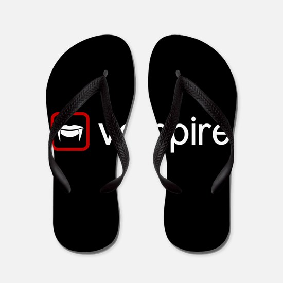 Vampire (Blood Red) Flip Flops
