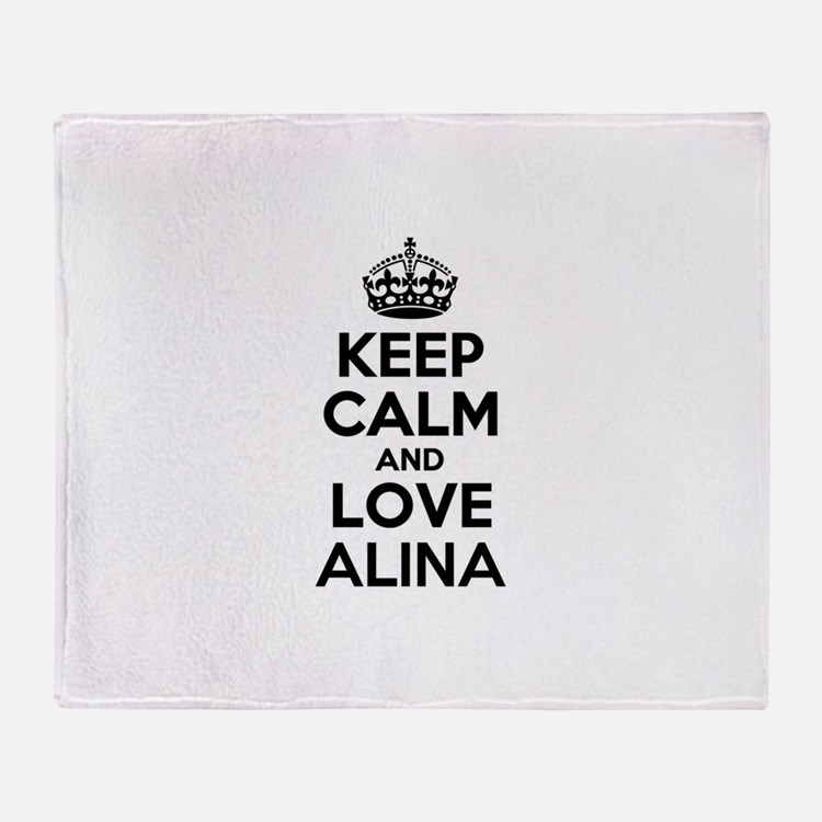 Keep Calm and Love ALINA Throw Blanket