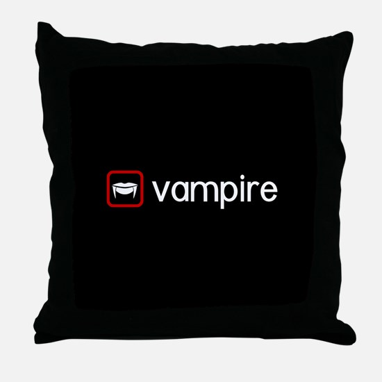 Vampire (Blood Red) Throw Pillow
