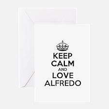 Keep Calm and Love ALFREDO Greeting Cards