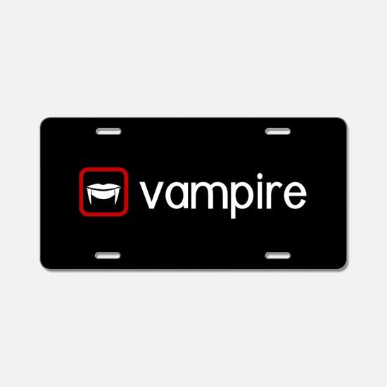 Vampire (Blood Red) Aluminum License Plate