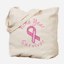 Nine Year Survivor Tote Bag