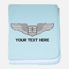 PERSONALIZED NAVIGATOR WINGS baby blanket