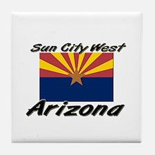 Sun City West Arizona Tile Coaster