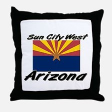 Sun City West Arizona Throw Pillow