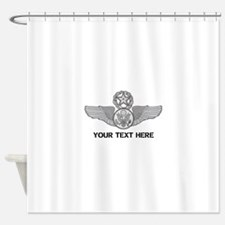 PERSONALIZED MASTER ENLISTED AIRCRE Shower Curtain