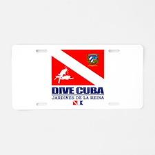 Dive Cuba Aluminum License Plate