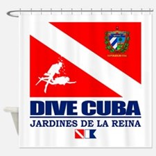 Dive Cuba Shower Curtain