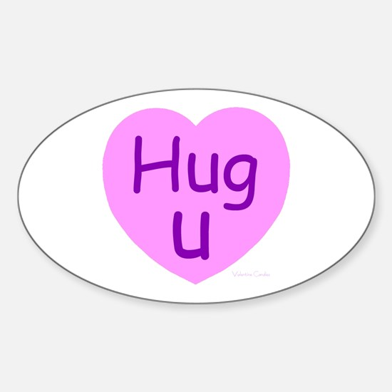 Hug U Candy! Oval Decal