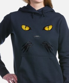 Cute Cat eye Women's Hooded Sweatshirt