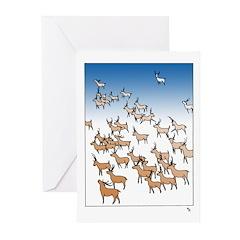 Reindeer Herd Greeting Cards (Pk of 10) Happy Holi