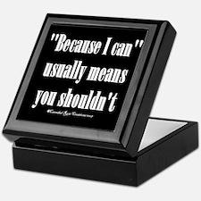 Moral Compass/black Keepsake Box