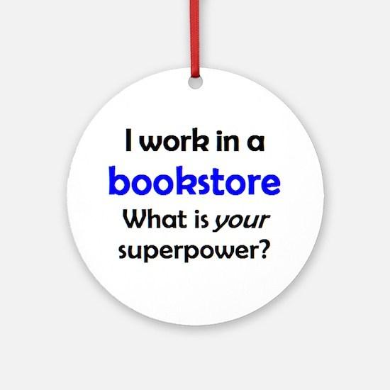 work in bookstore Round Ornament