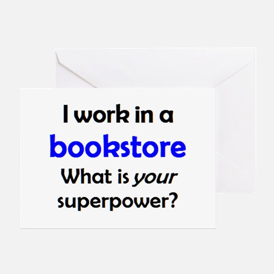 work in bookstore Greeting Card