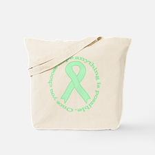 Mint Green Hope Tote Bag