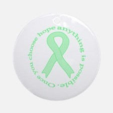 Mint Green Hope Ornament (Round)