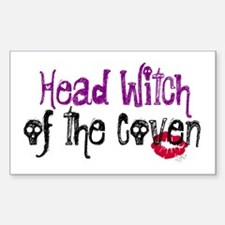 Head Witch of the Coven Rectangle Decal