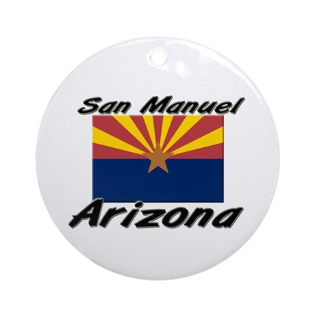 San Manuel Arizona Ornament (Round)