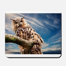 OWL AND SKY Mousepad