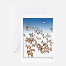 Reindeer Herd Greeting Card Happy Holidays
