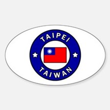 Cute Taiwan flag Sticker (Oval)