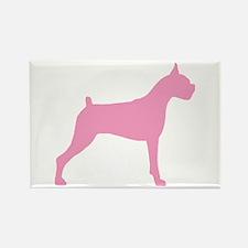 Pink Boxer Dog Rectangle Magnet (10 pack)
