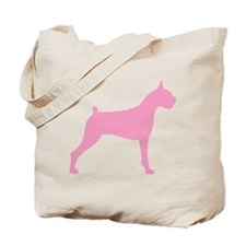 Pink Boxer Dog Tote Bag