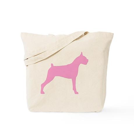 Pink Boxer Dog Tote Bag