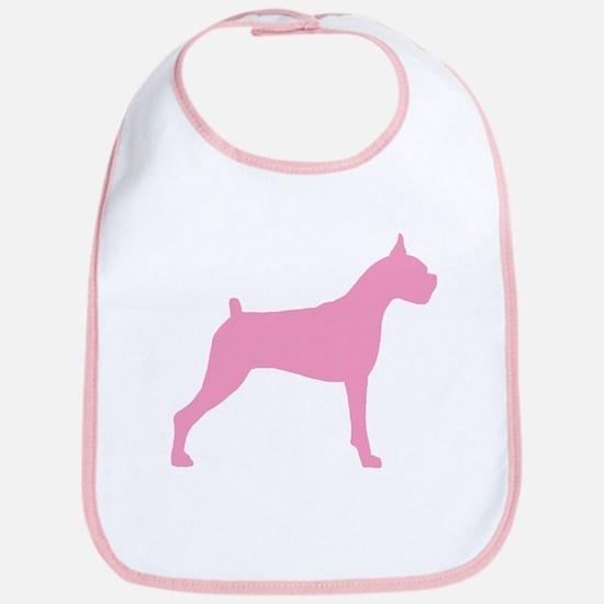 Pink Boxer Dog Bib