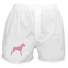 Pink Boxer Dog Boxer Shorts