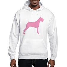 Pink Boxer Dog Hoodie