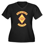 Red and gold support Mexican Plus Size T-Shirt