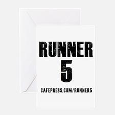 Runner 5 Greeting Cards