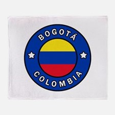 Bogota Colombia Throw Blanket