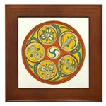 Lughnasadh Celtic Spiral Framed Tile