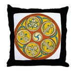 Lughnasadh Celtic Spiral Throw Pillow