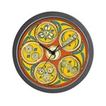 Lughnasadh Celtic Spiral Wall Clock