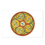 Lughnasadh Celtic Spiral Postcards (Package of 8)