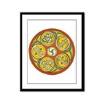 Lughnasadh Celtic Spiral Framed Panel Print