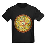 Lughnasadh Celtic Spiral Kids Dark T-Shirt