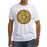 Lughnasadh Celtic Spiral Fitted T-Shirt
