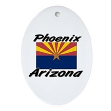 Phoenix Arizona Oval Ornament