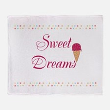 Cute Funny Sweet Dreams Throw Blanket