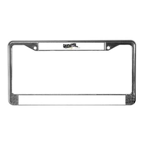 OneWith... License Plate Frame